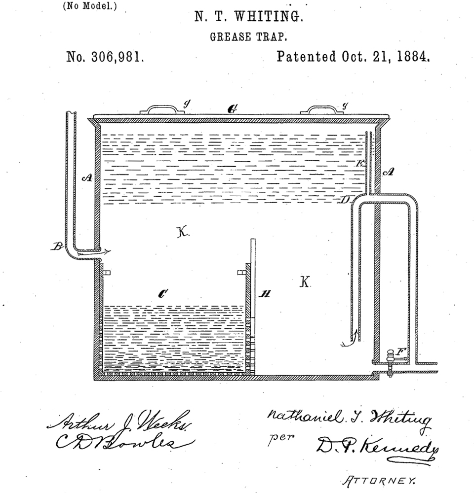history of the grease trap.